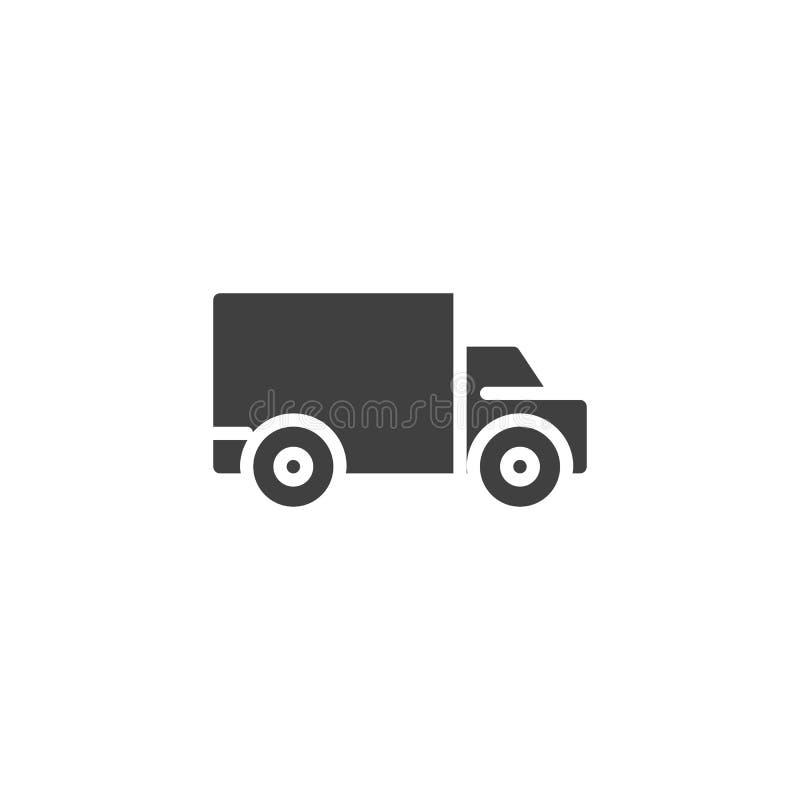 Het bewegen zich, verschepend vrachtwagen vectorpictogram stock illustratie
