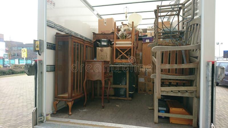 Het bewegende huis van de verwijderingenbestelwagen royalty-vrije stock foto