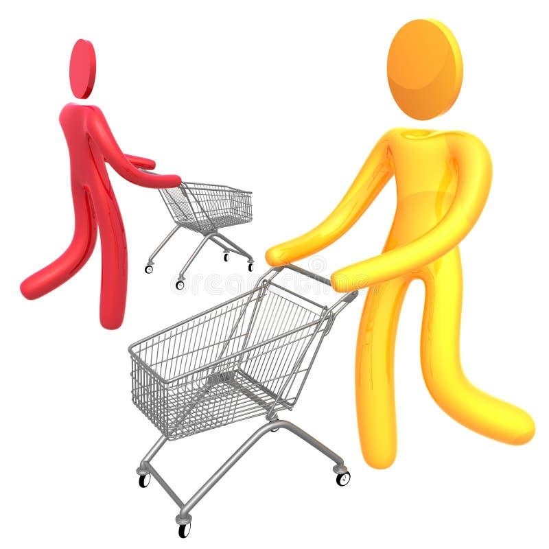 Download Het Bezige Symbool Van Het Klantenpictogram Stock Illustratie - Illustratie bestaande uit wandelgalerij, verkoop: 10775821