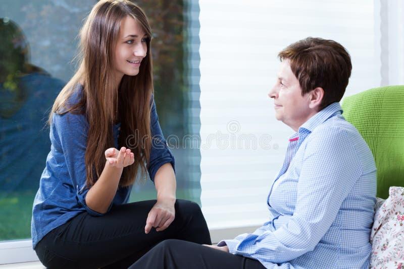Het bezoeken van de patiënt royalty-vrije stock afbeelding