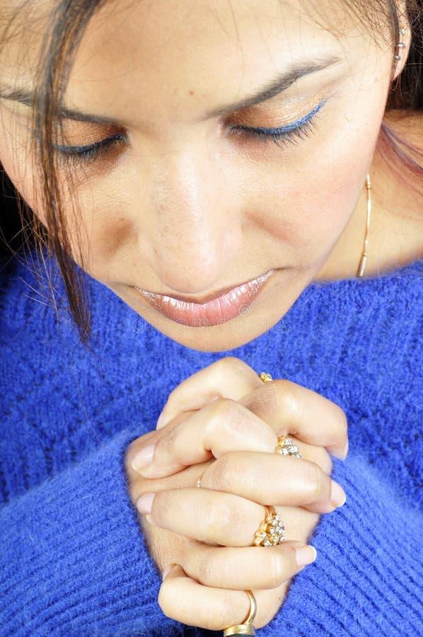Het bidden aan God royalty-vrije stock foto