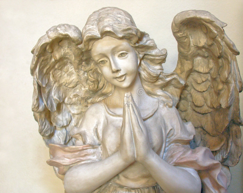 Het bidden Engel 2 stock afbeeldingen