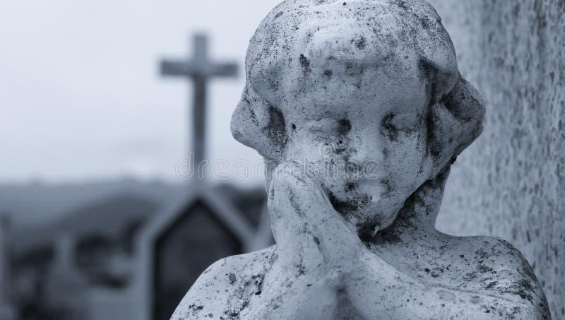 Het bidden Engel stock foto's