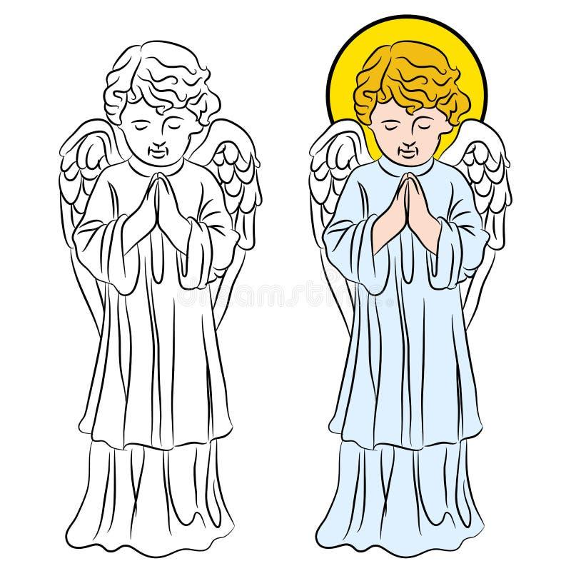Het bidden Engel stock illustratie