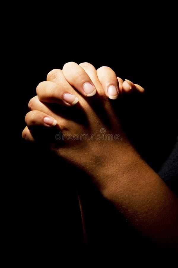 Het bidden Handen royalty-vrije stock afbeeldingen