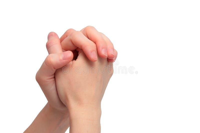 Het bidden handen stock fotografie