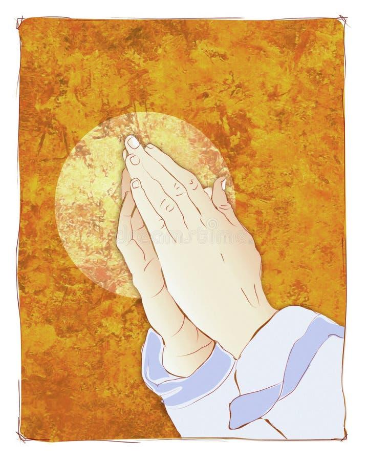 Het bidden handenillustratie stock illustratie