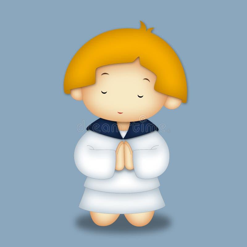 Het bidden het Portret van het Meisje vector illustratie