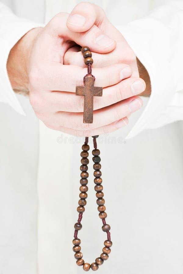 Het bidden van de mens royalty-vrije stock foto