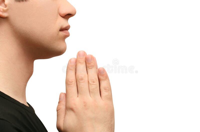 Het bidden van de mens royalty-vrije stock fotografie