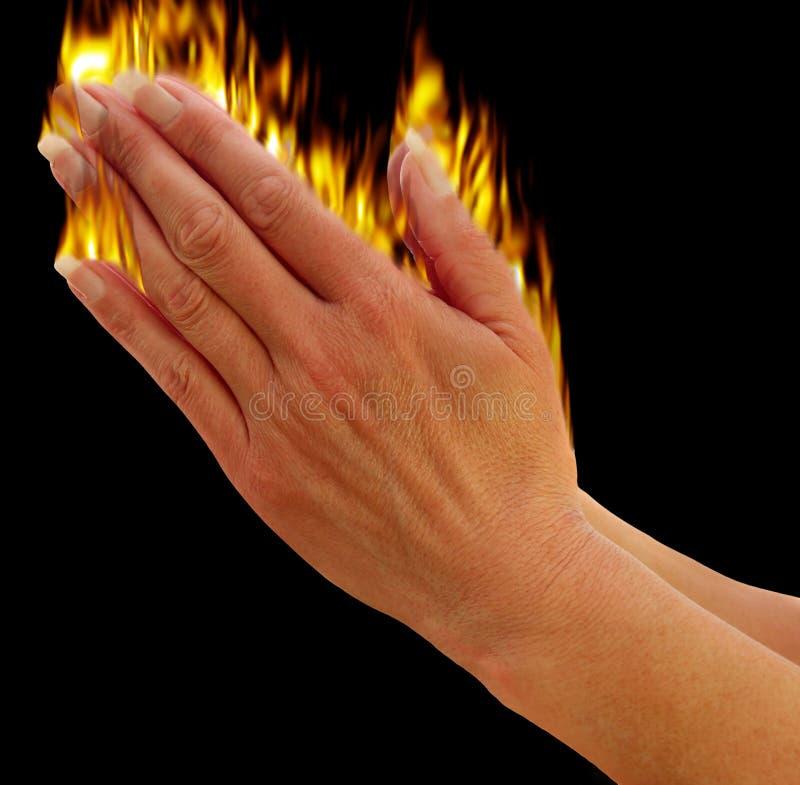 Het bidden van handen royalty-vrije illustratie