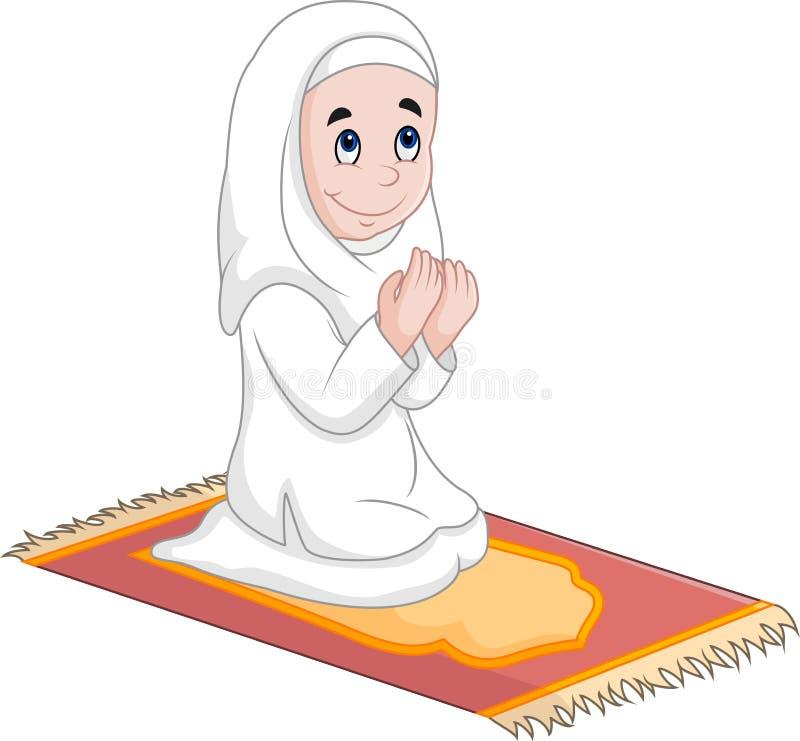 Het bidden van het meisje stock illustratie
