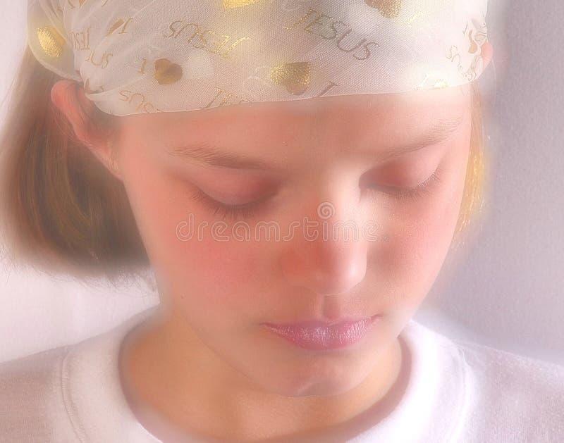 Het bidden van tiener royalty-vrije stock foto's