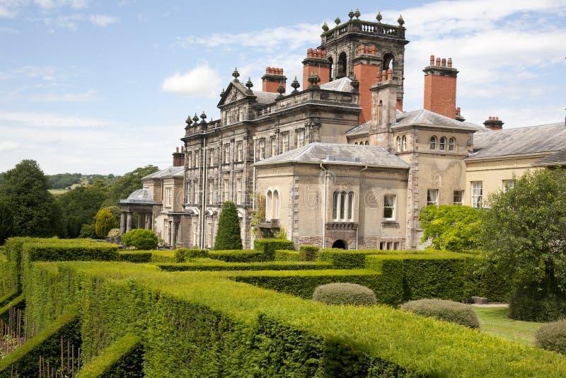 Het Biddulphlandhuis tuiniert Waardig Huis & Tuinen royalty-vrije stock afbeelding