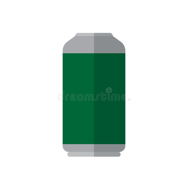 Het bier, drank kan vlak pictogram, gevuld vectorteken, kleurrijk pictogram op wit royalty-vrije illustratie