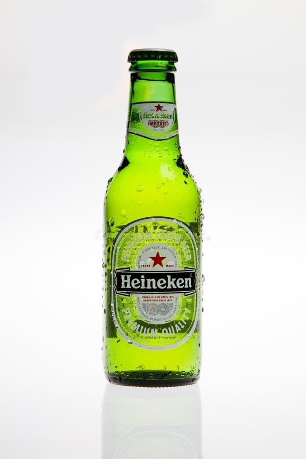 Het bier van Heineken stock afbeeldingen
