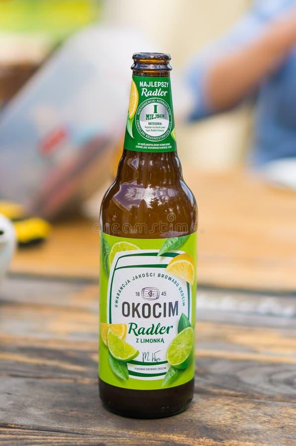 Het bier van Okocimradler stock fotografie