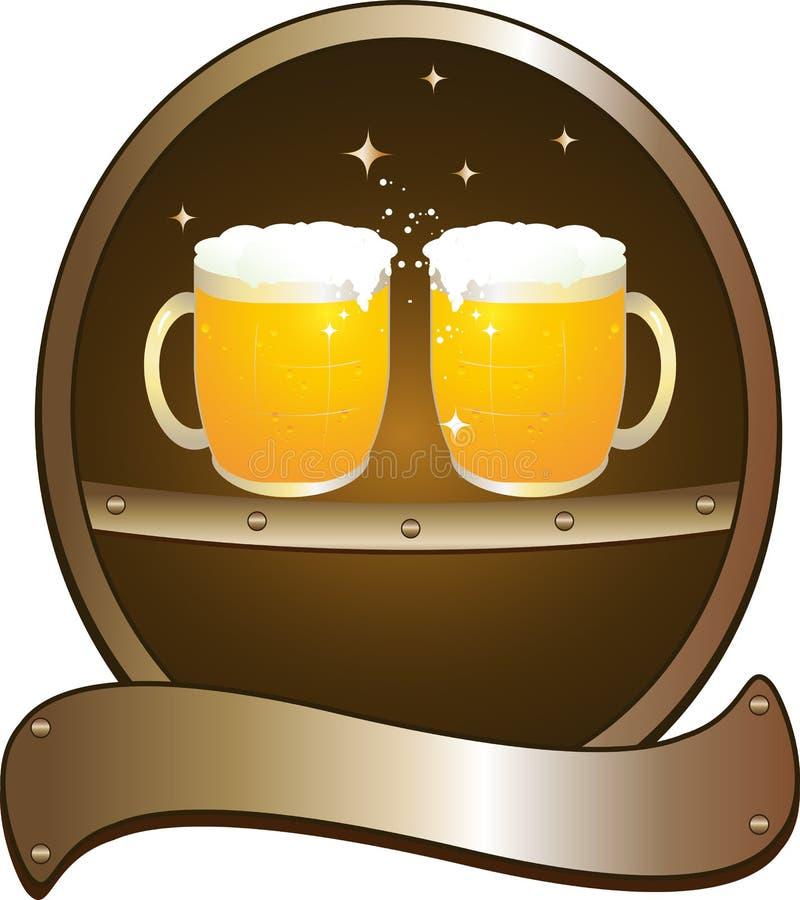 Het bierbar van het symbool vector illustratie