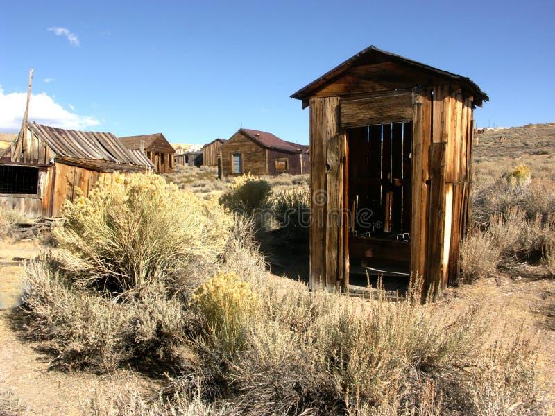 Het Bijgebouw van de spookstad stock afbeeldingen