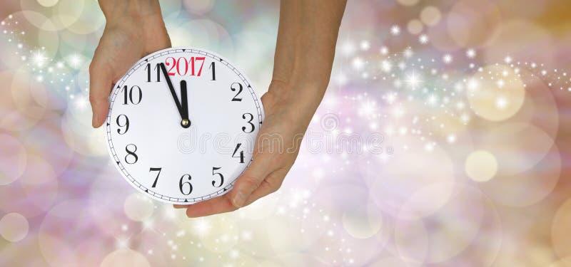 Het bijna het Nieuwjaar 2017 van ` s royalty-vrije stock fotografie