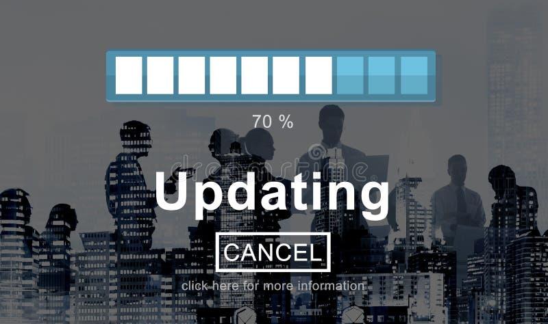Het bijwerken van het Programmagegevens van de Verbeteringssoftware de Technologieconcept stock foto's