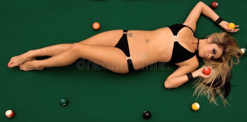 Het Biljart van de bikini royalty-vrije stock afbeelding