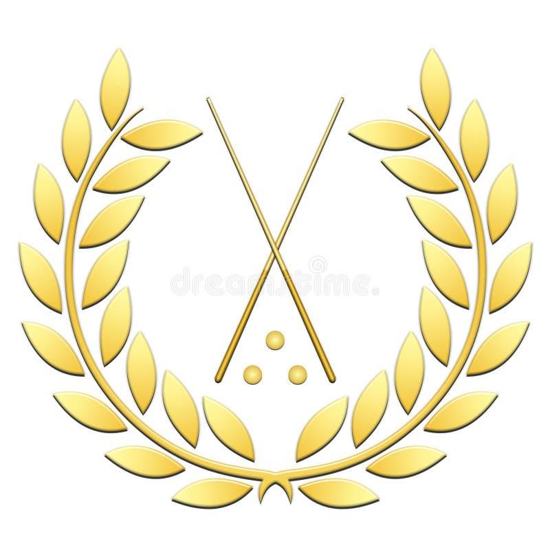 Het biljart van de lauwerkranssport op een witte achtergrond royalty-vrije illustratie