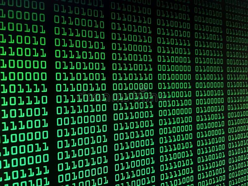 Het binaire concept van de gegevensstroom, aantallen, grote gegevens, informatie royalty-vrije stock afbeelding