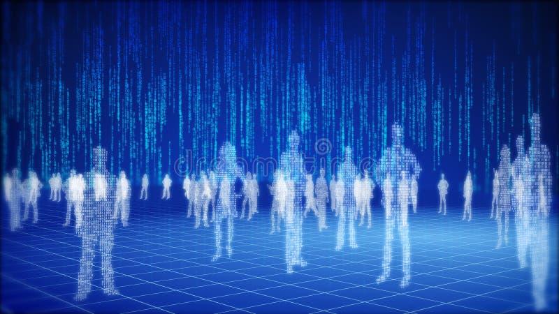 Het binaire concept van de informatiewereld.