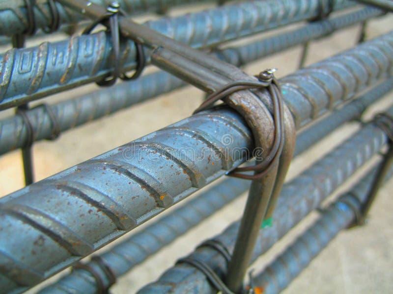 Het binden voor structureel staal bouw stock foto's
