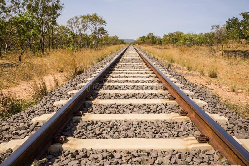 Het Binnenland Australië van het Spoor van de spoorweg stock fotografie