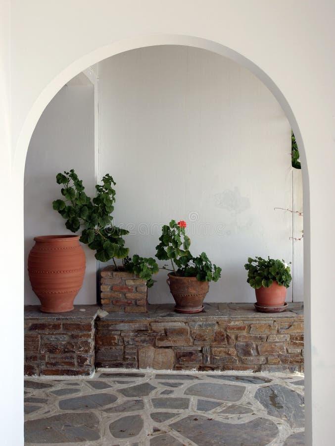 Het binnenland van Cycladic royalty-vrije stock afbeelding