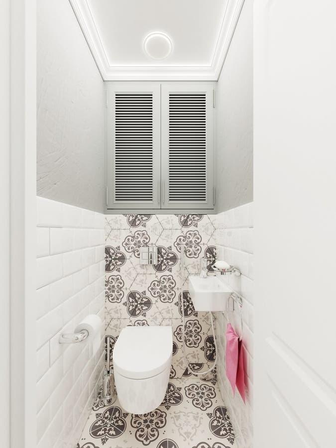 Het binnenland van de badkamers royalty-vrije illustratie