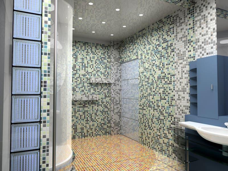 Het binnenland van de badkamers stock illustratie