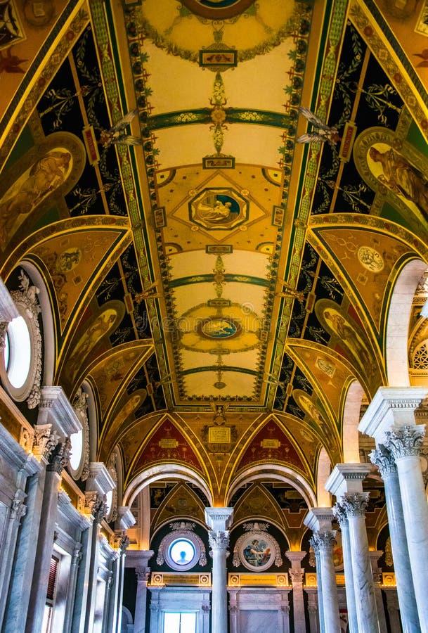 Het binnenland van de Bibliotheek van Congres, Washington, gelijkstroom royalty-vrije stock afbeeldingen