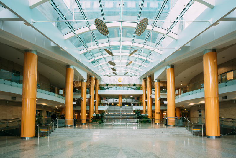Het Binnenland van de Bouw van Nationale Bibliotheek van stock afbeelding