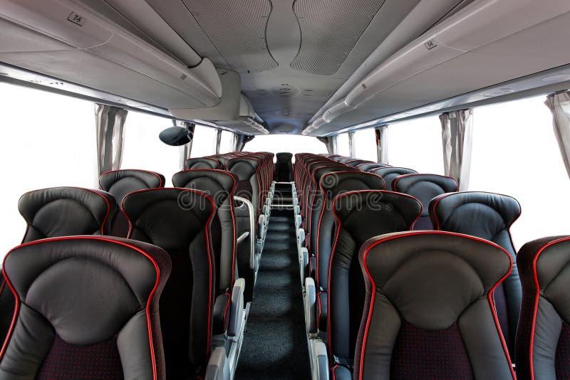 Het binnenland van de bus royalty-vrije stock afbeelding