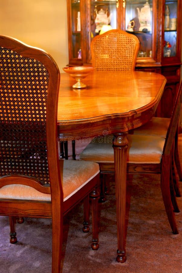 Het binnenland van de eetkamer royalty-vrije stock afbeelding