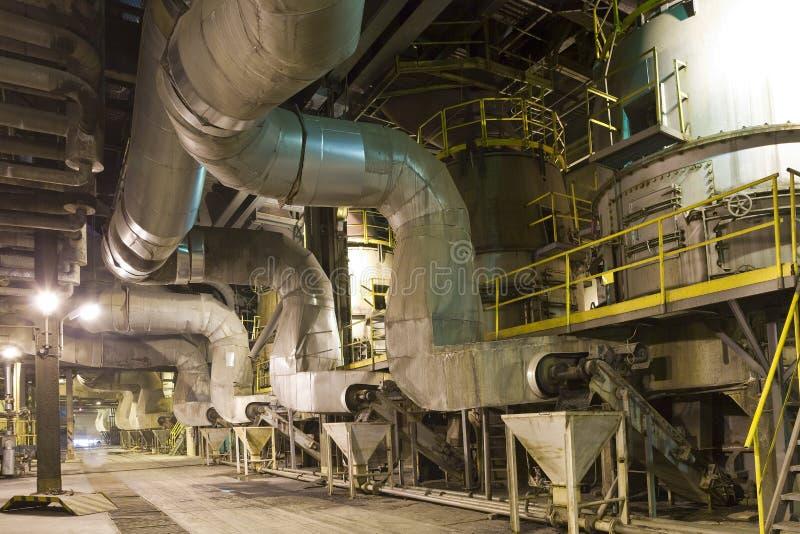 Het binnenland van de elektrische centrale stock foto