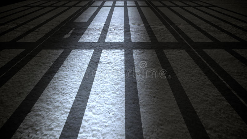 Het binnenland van de gevangenis stock illustratie