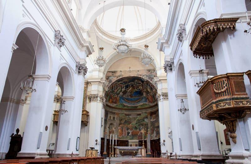 Het Binnenland van de Kathedraal van Spoleto royalty-vrije stock fotografie