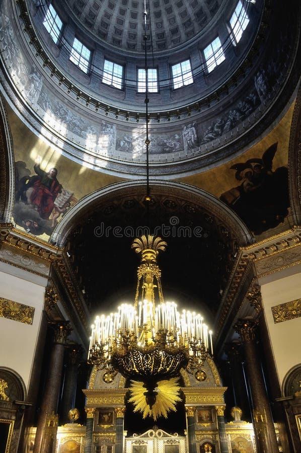 Het binnenland van de Kazan Kathedraal in heilige-Petersburg, Rusland royalty-vrije stock foto's