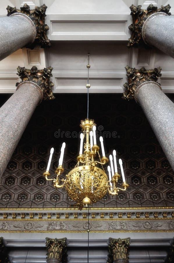 Het binnenland van de Kazan Kathedraal in heilige-Petersburg, Rusland stock fotografie