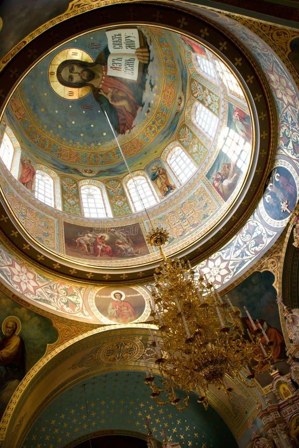 Het binnenland van de kerk royalty-vrije stock afbeeldingen