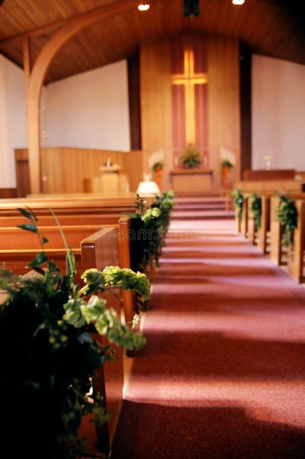 Het binnenland van de kerk stock foto's
