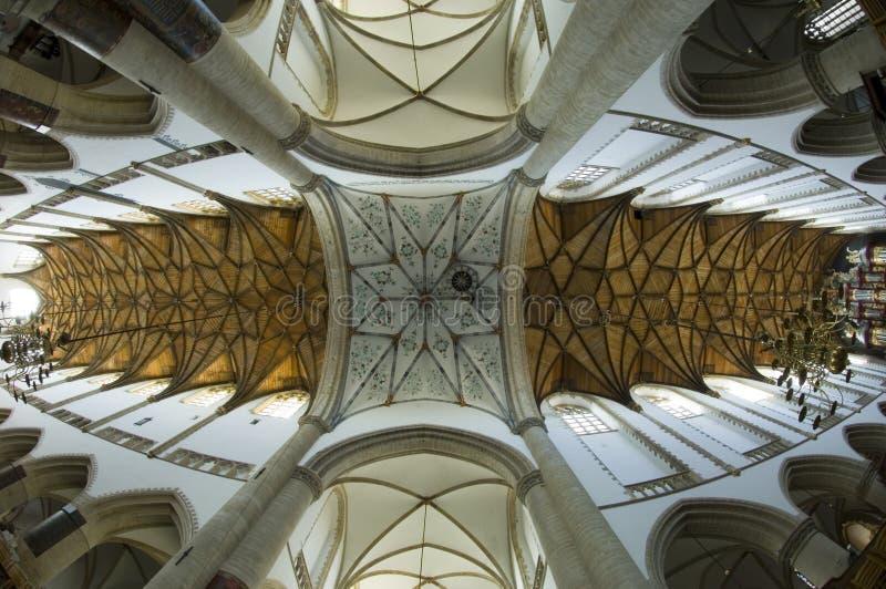 Het Binnenland van de Kerk van het Oog van vissen stock foto