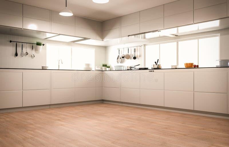 Het binnenland van de keuken stock illustratie