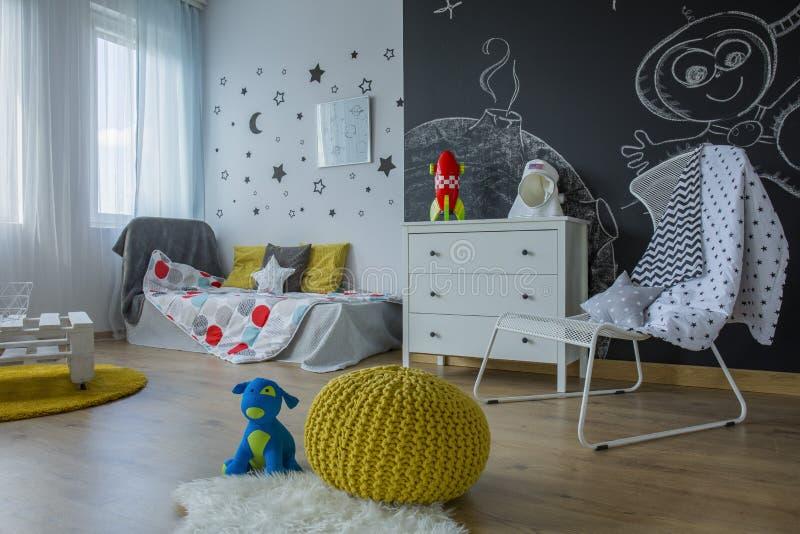 Het binnenland van de kinderen` s ruimte stock fotografie