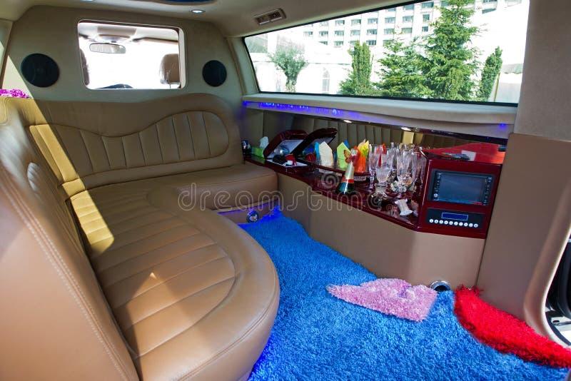 Het binnenland van de limousine royalty-vrije stock fotografie