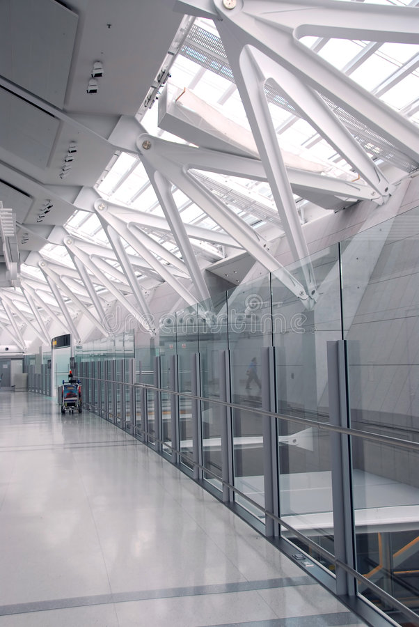 Het binnenland van de luchthaven stock afbeeldingen